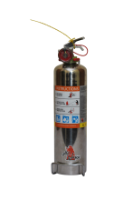 Jamaica 1kg ABC Powder Stainless Steel Extinguisher