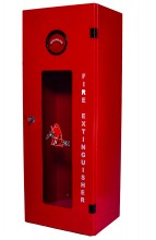 Fire Extinguisher Cabinet up to 9kg (20LB), Mild Steel, Mesh Glass Window, 760x280x230