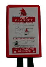 Fire Blanket , 1.2x1.8mtr, package in pvc hard Box