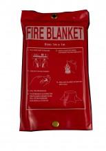 Fire Blanket , 1.0 x 1.0 Mtr,package in pvc bag